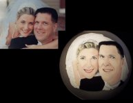 Casual Bridal Portrait painted on Christmas ornament
